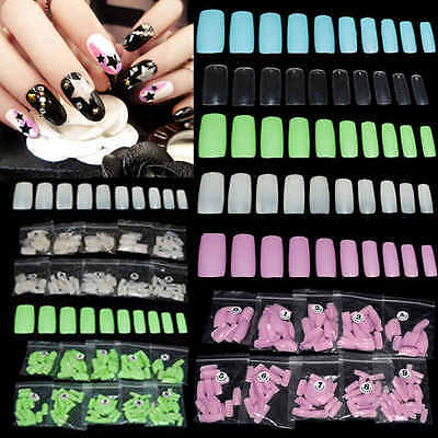 500pcs Capsules French Faux Ongles Extension Demi Gel UV Acrylique Nail Art Tips
