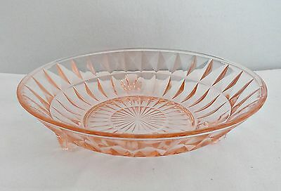 Depression Glass Jeanette Windsor Round 3 Footed Bowl Pink