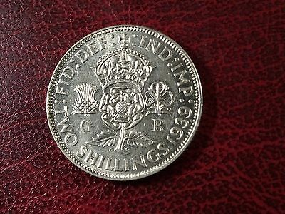 George V1 Silver Florin Two Shillings 1939