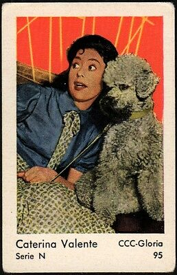 1962 Vintage Swedish Serie N Movie Star Gum Card #95 Caterina Valente