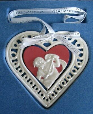 WEDGWOOD  $40 Porcelain 2007 First Christmas Together Cupid Heart Ornament NIB