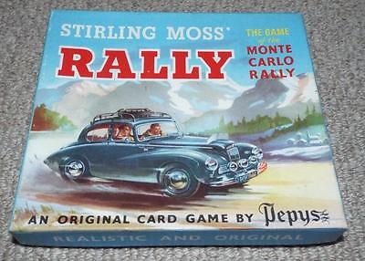 Stirling Moss Monte Carlo Rally - Vintage 1954 Boxed Pepys Card Game
