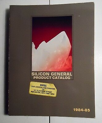 1984 Silicon General Product Catalog Voltage Regulators, Op-Amps +