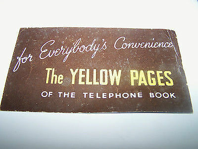 Vintage ink blotter For Everybody's Convenience The Yellow Pages advertisement