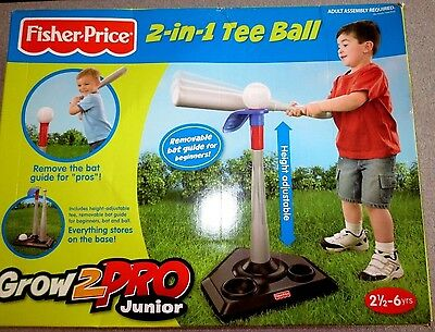 Fisher Price 2 in 1 Tee Ball Grow 2 Pro Junior T3261 Mattel New in Box
