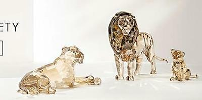 Swarovski 2016 Lion Akili MOTHER CUB SCS SET 5135894 all 3 PC.brand new 100% Aut