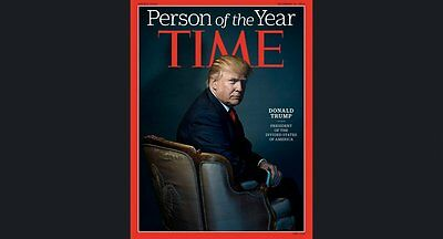 President Donald Trump Time Magazine Person Of Year December 2016 New No Label