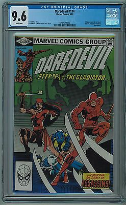 Daredevil #174 Cgc 9.6 High Grade Frank Miller White Pages 1981