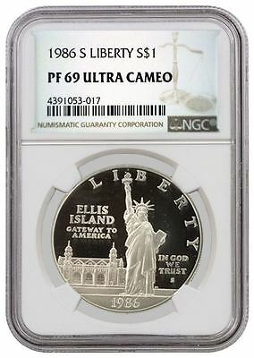 1986 S $1 Statue Of Liberty Centennial Commemorative Silver Dollar NGC PF69 UC