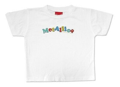 Metallica Color Name Logo Toddler Infant White T Shirt New Official Baby