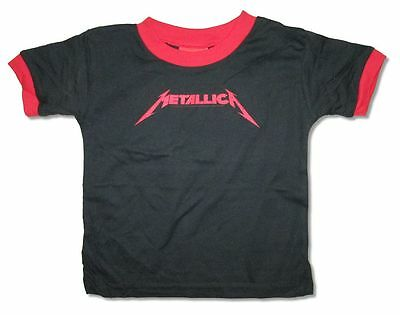 Metallica Classic Red Logo Toddler Infant Black T Shirt New Official Baby