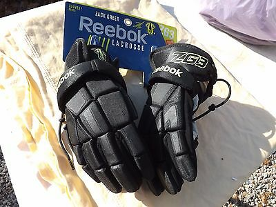 "NEW Reebok Lacrosse Zack Greer ZG3 12"": Youth Gloves Black/Lime Free Shipping"