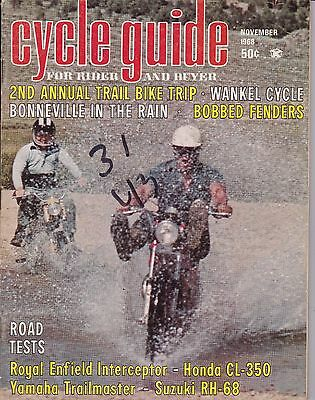 Cycle Guide Magazine Motorcycle Magazine NOVEMBER 1968 NOV