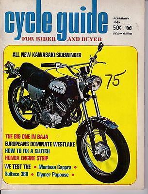 Cycle Guide Magazine Motorcycle Magazine FEBRUARY 1969 FEB