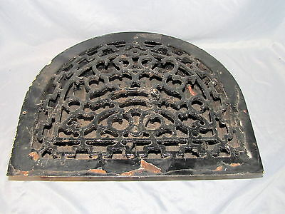 Original Antique Vintage Cast Iron Arch Shaped Heat Grate Wall Floor Register