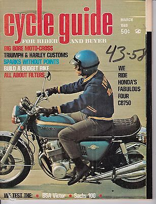 Cycle Guide Magazine Motorcycle Magazine MARCH 1969 MAR