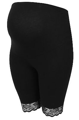 Womens Bump It Up Maternity Cotton Elastane Legging Shorts With Comfort Panel An