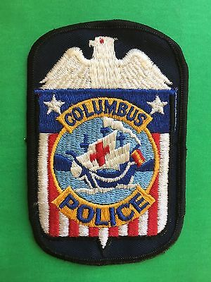 Columbus Ohio  Police  Shoulder  Patch  Used