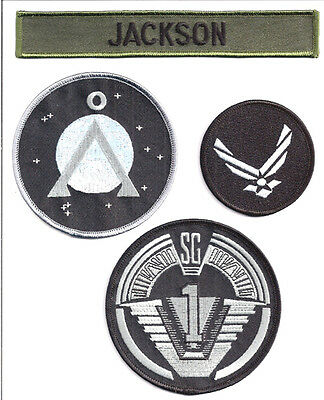 STARGATE - SG -1 - Jackson Set  Uniform patch- Aufnäher original Replica 4teilig