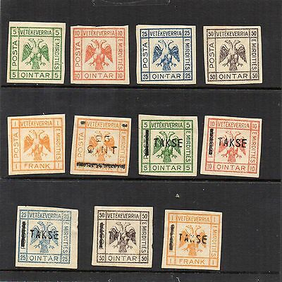 H.Mint and Used - Albania x 11 stamps