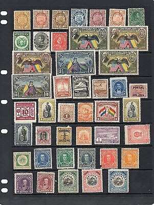 H.Mint and Used - South America x 52 stamps