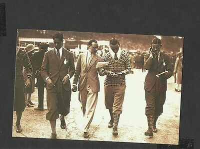 Nostalgia Postcard A Day at the Races  Mens Sporting Fashion 1926