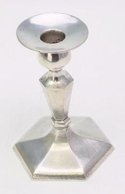 Antique Chinese Export Sterling Silver Weighted Candlestick Holder Single