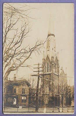 Old Rppc Real Photo Postcard Middletown Ct North Congregational Church 1907
