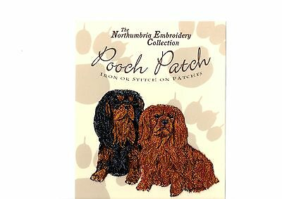 Cavalier King Charles Ruby /Black & Tan EMBROIDERED  Pooch Patch