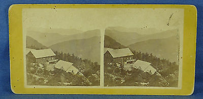 """Vermont - """"Mt. Mansfield Summit House"""" 1800s VT Stereoview Photograph"""