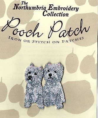 West Highland White Terrier  EMBROIDERED  Pooch Patch