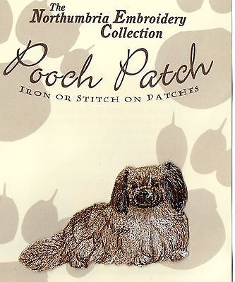 Tibetan Spaniel EMBROIDERED  Pooch Patch
