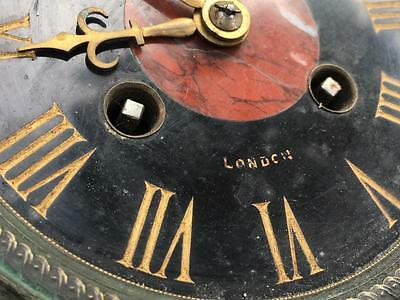 "Vintage Antique Japy Freres French Mantle Clock Movement 4.25"" Slate Dial & Back"