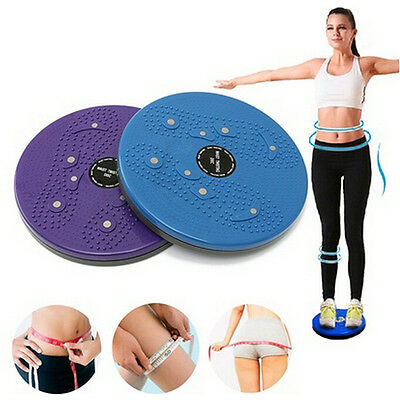 Twist Waist Torsion Disc Board Aerobic Exercise Fitness Reflexology Magnets LAUS