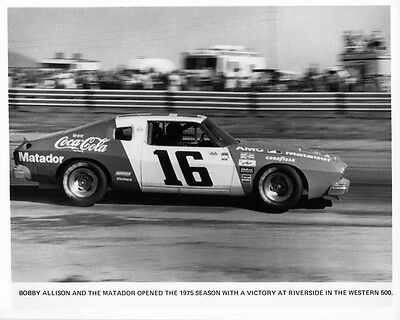1975 AMC Matador ORIGINAL Factory Photo Bobby Allison oad8187-UXUSKL