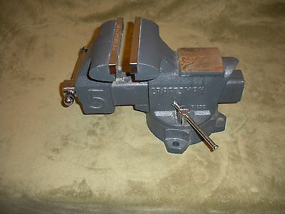 "Nice Craftsman Combination Swivel Bench Vise 5.5"" Jaws 51855"
