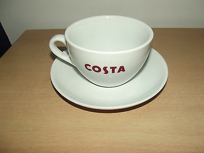 Costa Coffee 3 Bean Logo Cup and Saucer 8''