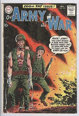 Our Army At War Comic #100 (1960) GD DC Silver Age Sgt. Rock