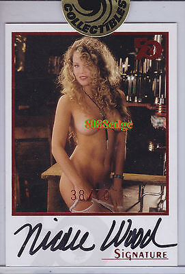 2005 PLAYBOY 50th ANNIVERSARY AUTO: NICOLE WOOD #38/70 AUTOGRAPH PLAYMATE/BUNNY