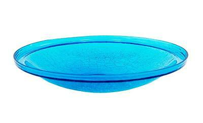 """Achla 14"""" Teal Crackle Glass Bowl CGB-14T"""