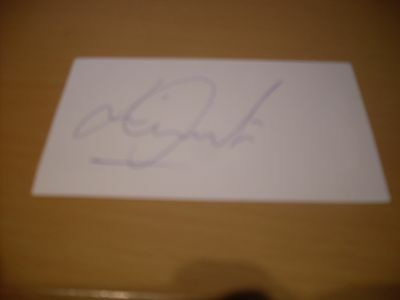 signed card of ex norwich city bristol rovers footballer jamie cureton