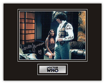 •Sale• Doctor Dr. Who Tom Baker / Louise Jameson Signed 14x11 Display