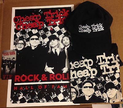 Cheap Trick Rock Hall Tour 2016 Vip Package Shirt L Poster Hat Ticket