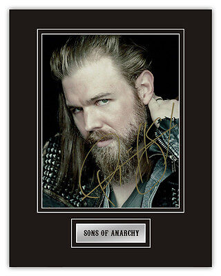 •Sale• Sons Of Anarchy Ryan Hurst (Harry 'Opie' Winston) Signed 14x11 Display