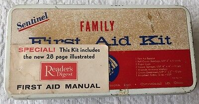 Vintage Sentinel Readers Digest Family First Aid Kit