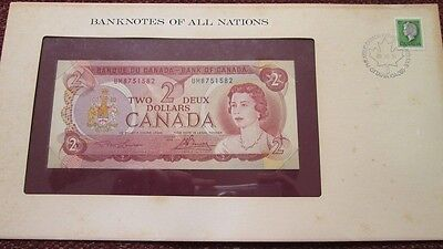 Canada P-86a 2 Dollars 1974 Unc Banknotes of All Nations