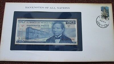 Mexico P-65a 50 Pesos 1973 Unc Banknotes of All Nations