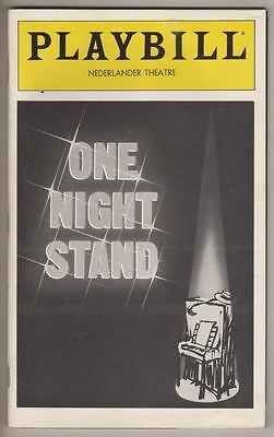 "Jule Styne, Herb Gardner  FLOP  Playbill  ""One Night Stand""  NEVER OPENED 1980"