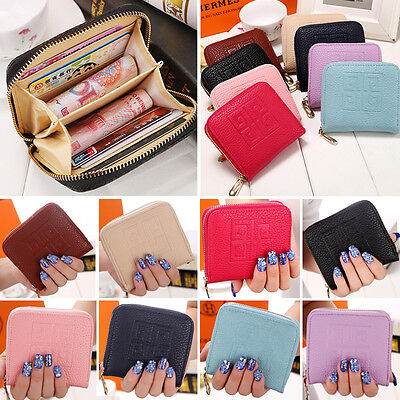 Korean Style Women Leather Wallet Coin Purse Wallet Lady Card Holder Small Bag