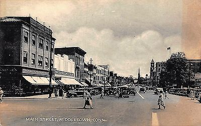 G4755    Middletown,  Ct.    Postcard,   Main   St.